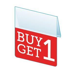 """Buy 1 Get 1 Shelf Talker, 2.5""""W x 1.25""""H"""