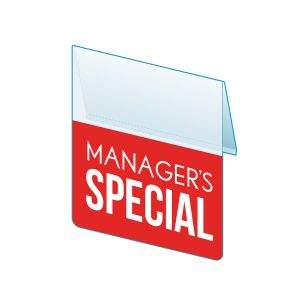 """Manager's Special Shelf Talker, 2.5""""W x 1.25""""H"""