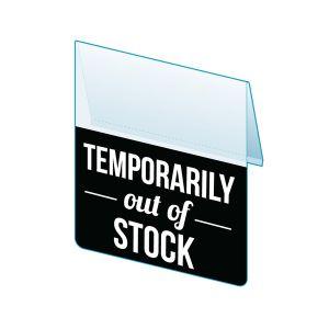 "Temp Out of Stock Shelf Talker, 2.5""W x 1.25""H"