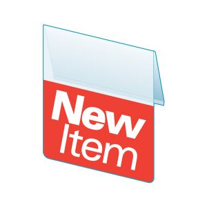 """New Item Shelf Talker, ClearVision, 2.5""""W x 1.25""""H"""