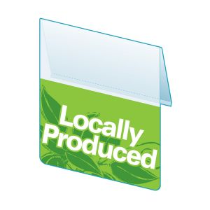 """Locally Produced Shelf Talker, ClearVision, 2.5""""W x 1.25""""H"""