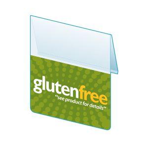 """Gluten Free Shelf Talker, HealthTalker Series, 2.5""""W x 1.25""""H"""