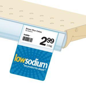"Low Sodium Shelf Talker, HealthTalker Series, ClearVision, 2.5""W x 1.25""H"
