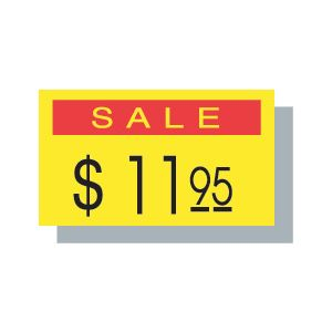 PB 1 Labels, Yellow-Red SALE