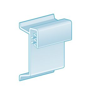 """Channel Clip-In, Flush Grip 1.25""""H, Clear"""