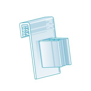 """Clip-On, Right Angle Grip with Hinge 0.75""""L, Clear"""
