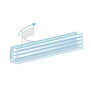 Multi-Use Adhesive, U-Channel Grip, Clear