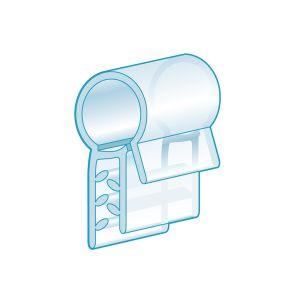 "Fence & Basket Clip-On, Flush Grip 0.5""L, Clear"