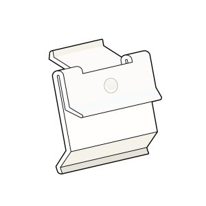 """Channel Clip-In, Flush Clip with Snap 1.25"""" H x 1""""L, Natural"""