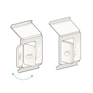 """Channel Clip-In, Right Angle Clip with Snap 1.25"""" H x 1""""L, Natural"""