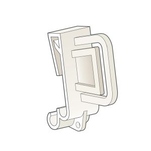 """Clip-On, Right Angle Clip 1.25""""W x 1.75""""H x 0.65""""D, Natural"""
