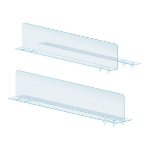 PopLock™ T and L-Style Shelf Divider, Clear