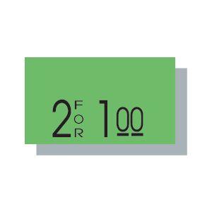 PB 1 Labels, Fluorescent Green