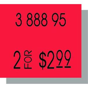 PB216 Labels, Fluorescent Red
