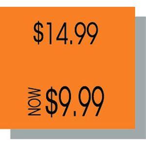 PB216 Labels, Fluorescent Orange