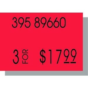 PB210 Labels, Fluorescent Red