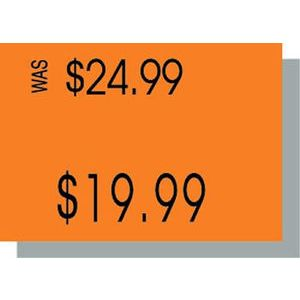 PB210 Labels, Fluorescent Orange