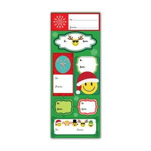 Label Sticker Sheets, Emoji Christmas Collection