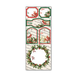 Label Sticker Sheets, Cardinal & Holly Collection