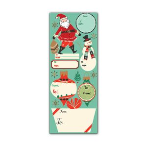 Label Sticker Sheets, Christmas Classic Collection