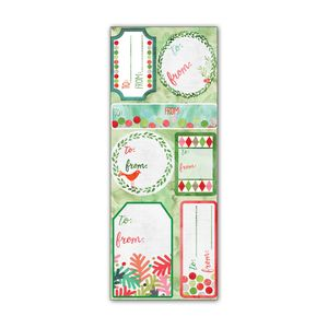 Label Sticker Sheets, Holiday Watercolor Collection