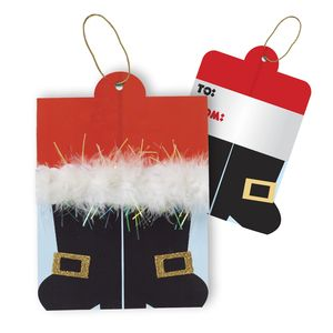 """Gift Tags with Strings, Santa's Boots Collection, 3-1/2"""" x 3-1/2"""""""