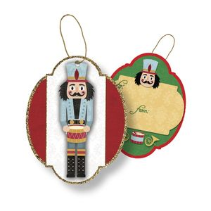 """Gift Tags with Strings, Traditional Nutcracker Collection, 3-1/2"""" x 3-1/2"""""""
