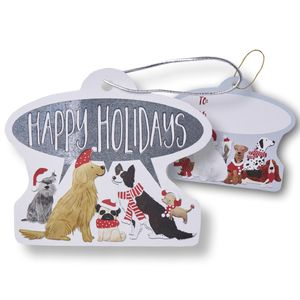 """Gift Tags with Strings, Santa's Helpers Collection, 3-1/2"""" x 3-1/2"""""""
