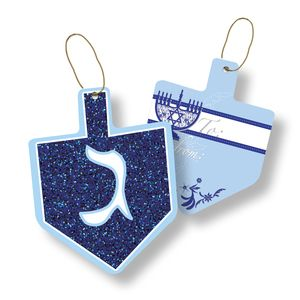 """Gift Tags with Strings, Happy Hanukkah Collection, 3-1/2"""" x 3-1/2"""""""