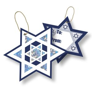 """Gift Tags with Strings, Shield of David Collection, 3-1/2"""" x 3-1/2"""""""