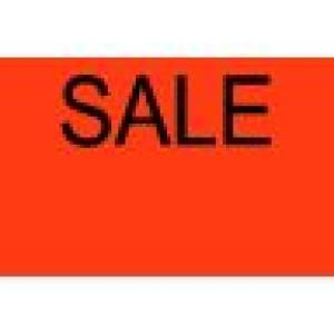 Fluorescent Red SALE, Primark P 14 Labels