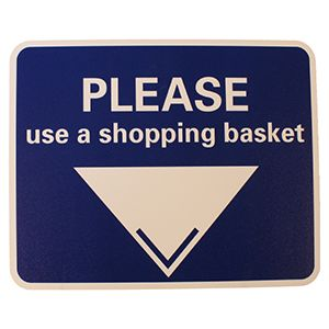 Sign only for Baskets