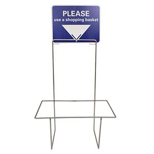 Stand and Sign only, For Large Baskets