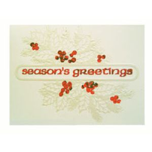 Holiday Gift Enclosure Card, Red Foil on White