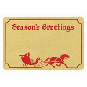 Holiday Gift Enclosure Card, Red Foil on Kraft