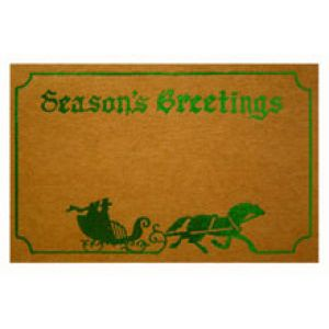 Holiday Gift Enclosure Card, Green Foil on Kraft