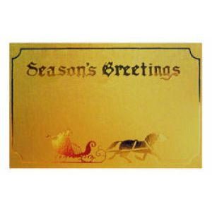 Holiday Gift Enclosure Card, Gold on Gold