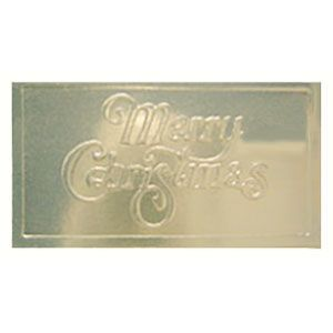 Holiday Gift Enclosure Card, Silver on Silver