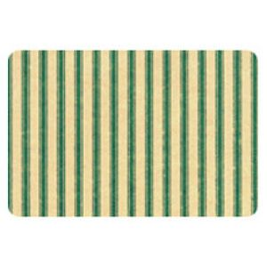 Everyday Gift Enclosure Card, Ticking Stripe on Kraft - Green