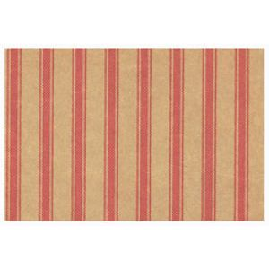 Everyday Gift Enclosure Card, Ticking Stripe on Kraft - Red
