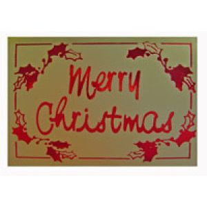 Holiday Gift Enclosure Card, Red & Gold on Kraft