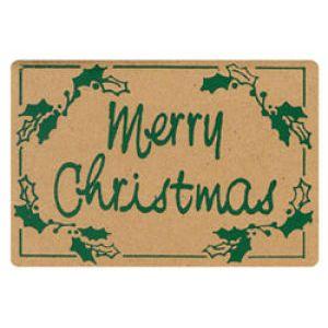 Holiday Gift Enclosure Card, Hunter Green on Kraft
