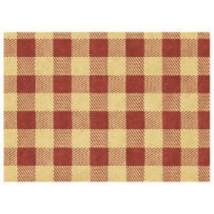 Everyday Gift Enclosure Card, Gingham on Kraft - Burgundy