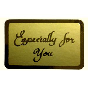 Especially for You - Gold only, Gift Labels