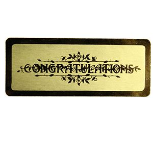 Congratulations - Gold, Gift Labels