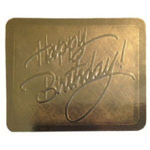 Happy Birthday - Gold, Gift Labels