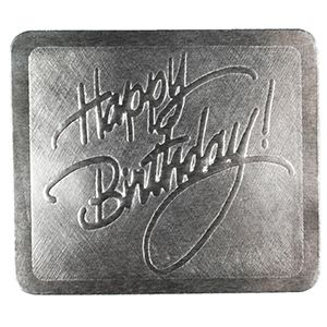 Happy Birthday - Silver, Gift Labels