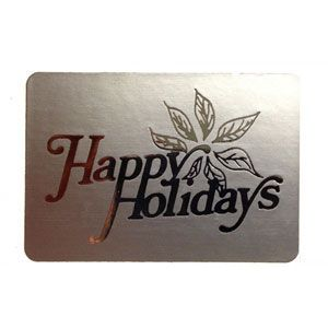 Happy Holidays - Silver, Gift Labels