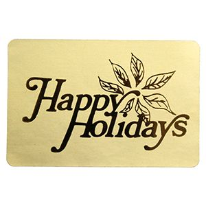 Happy Holidays - Gold, Gift Labels