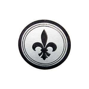 Fleur de Lis - Silver, Gift Labels